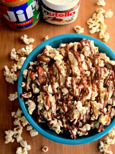 Peanut Butter and Nutella Popcorn Recipe