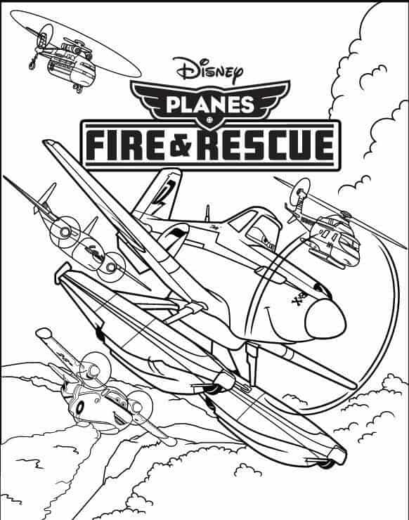 Planes Fire And Rescue Coloring Pages Windlifter | Olivero